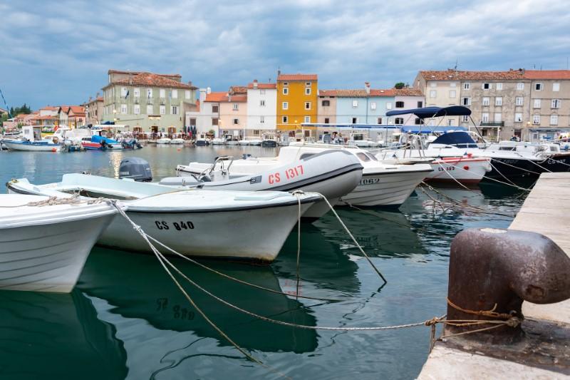 Cres szigete - kikötő